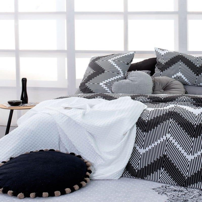 Κουβέρτα Πικέ Quinn White Palamaiki Υπέρδιπλo