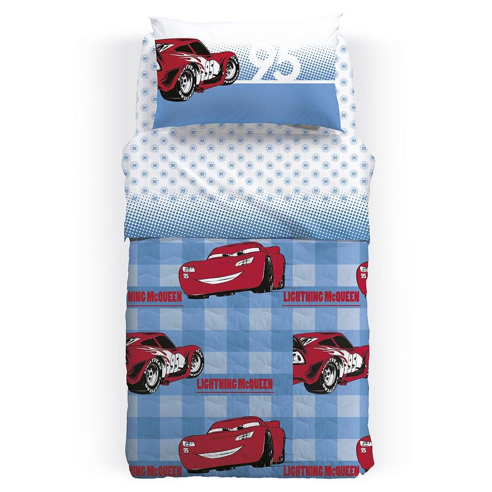 Κουβερλί Παιδικό Disney Cars 95 Azzuro Blue-Red Palamaiki Ημίδιπλο