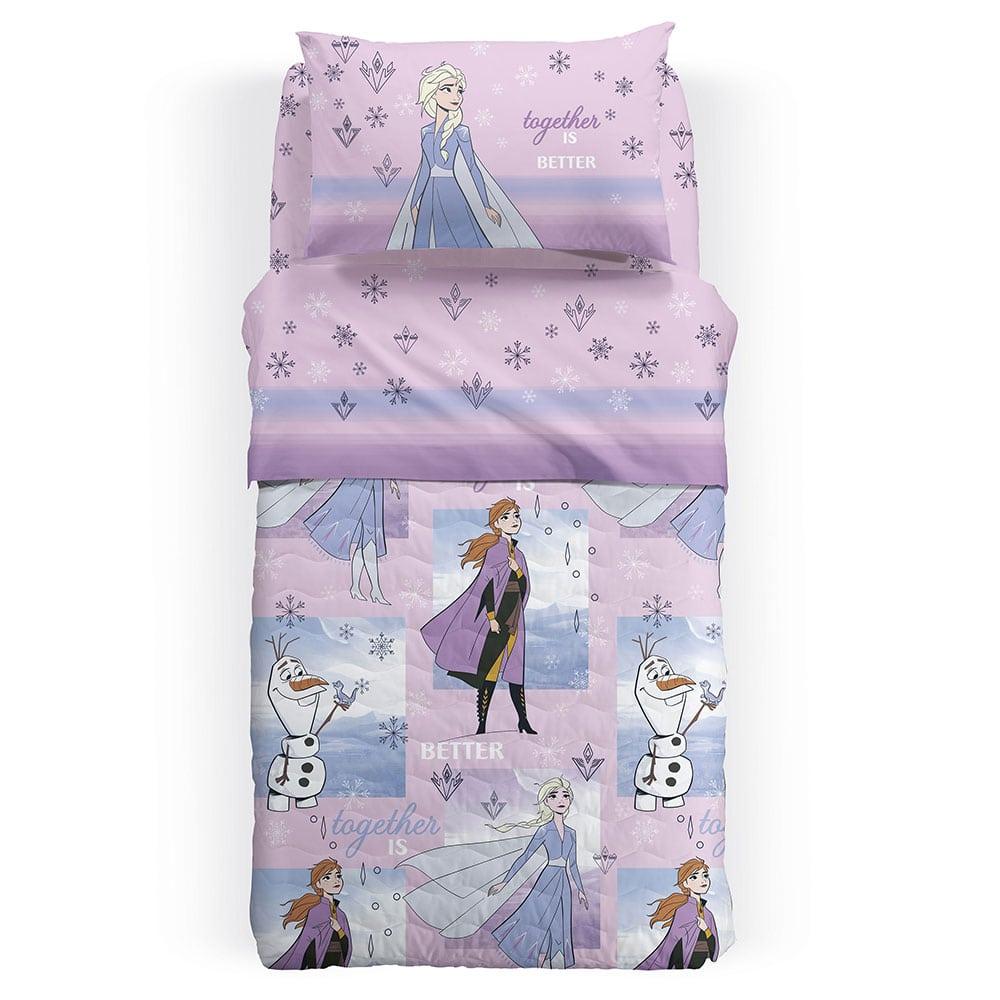 Κουβερλί Παιδικό Disney Frozen Sogni Lila Palamaiki Ημίδιπλο