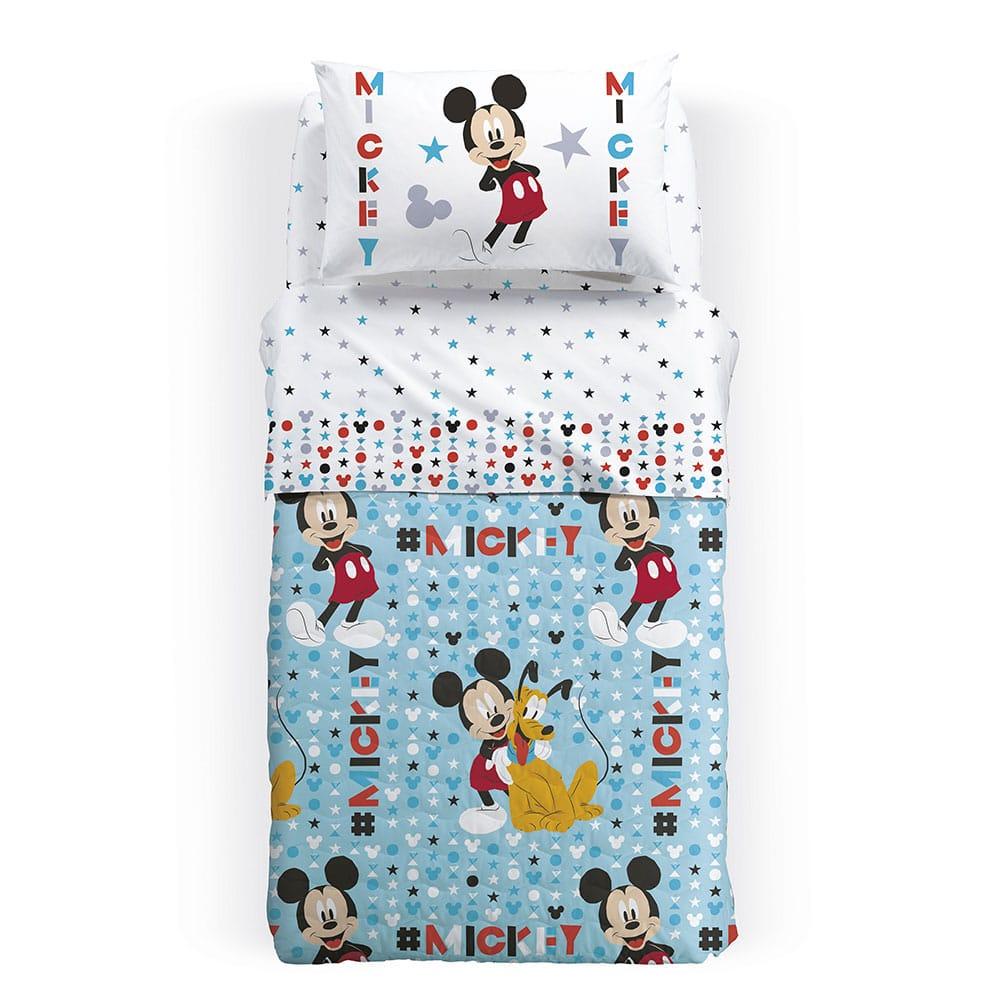 Κουβερλί Παιδικό Disney Mickey Stelle Multi Palamaiki Ημίδιπλο