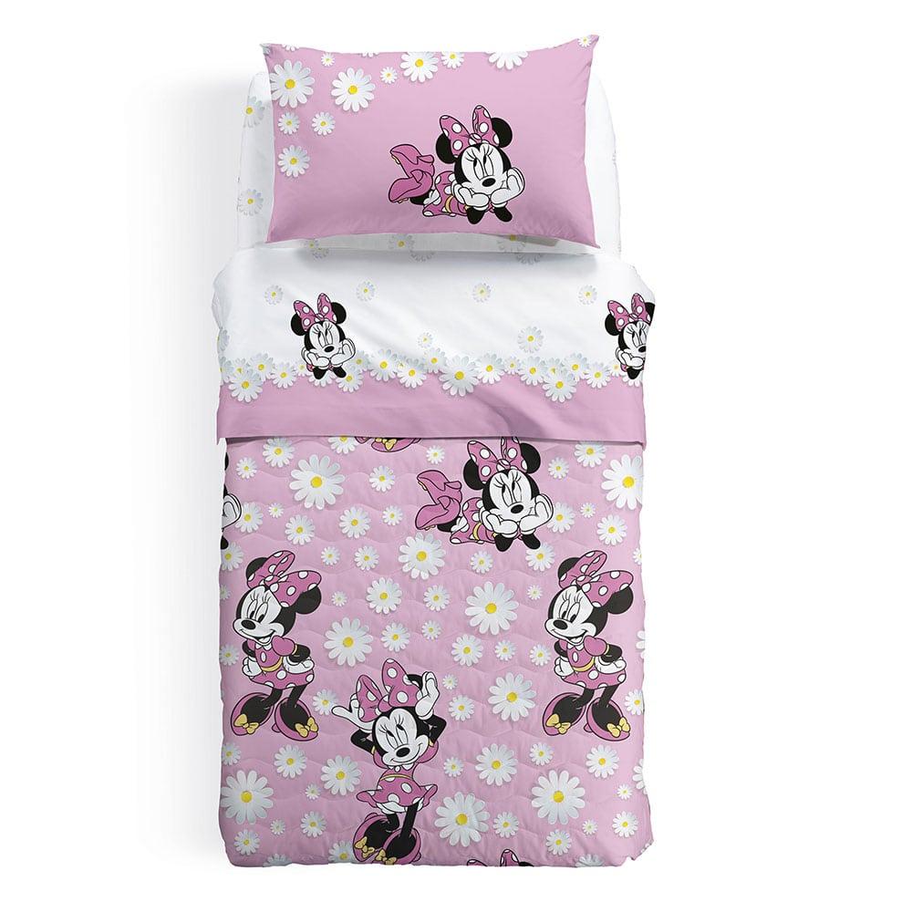 Κουβερλί Παιδικό Disney Minnie Margerite Pink Palamaiki Ημίδιπλο