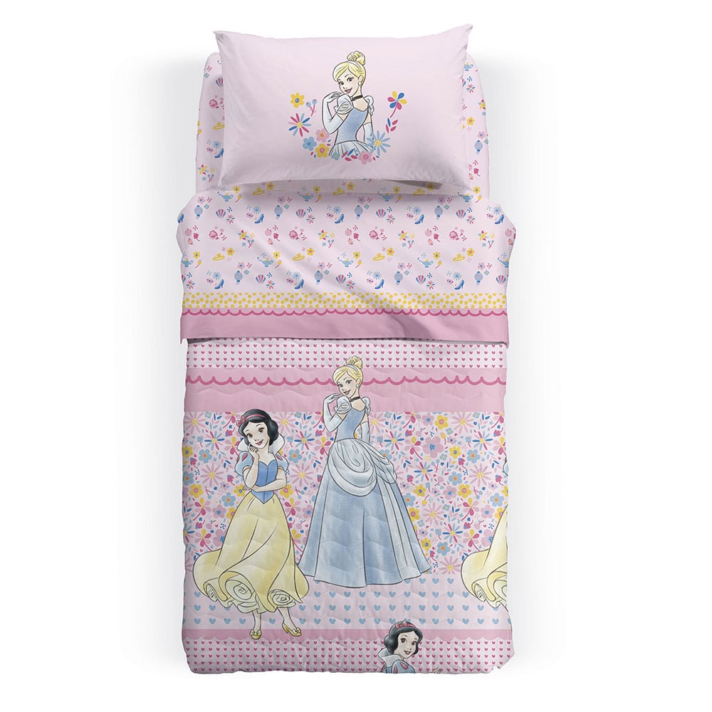 Κουβερλί Παιδικό Disney Princess Romance Multi Palamaiki Ημίδιπλο