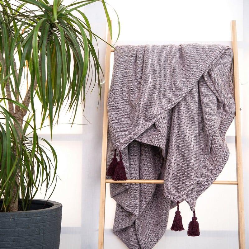 Κουβέρτα Zion Plum Palamaiki Ημίδιπλο
