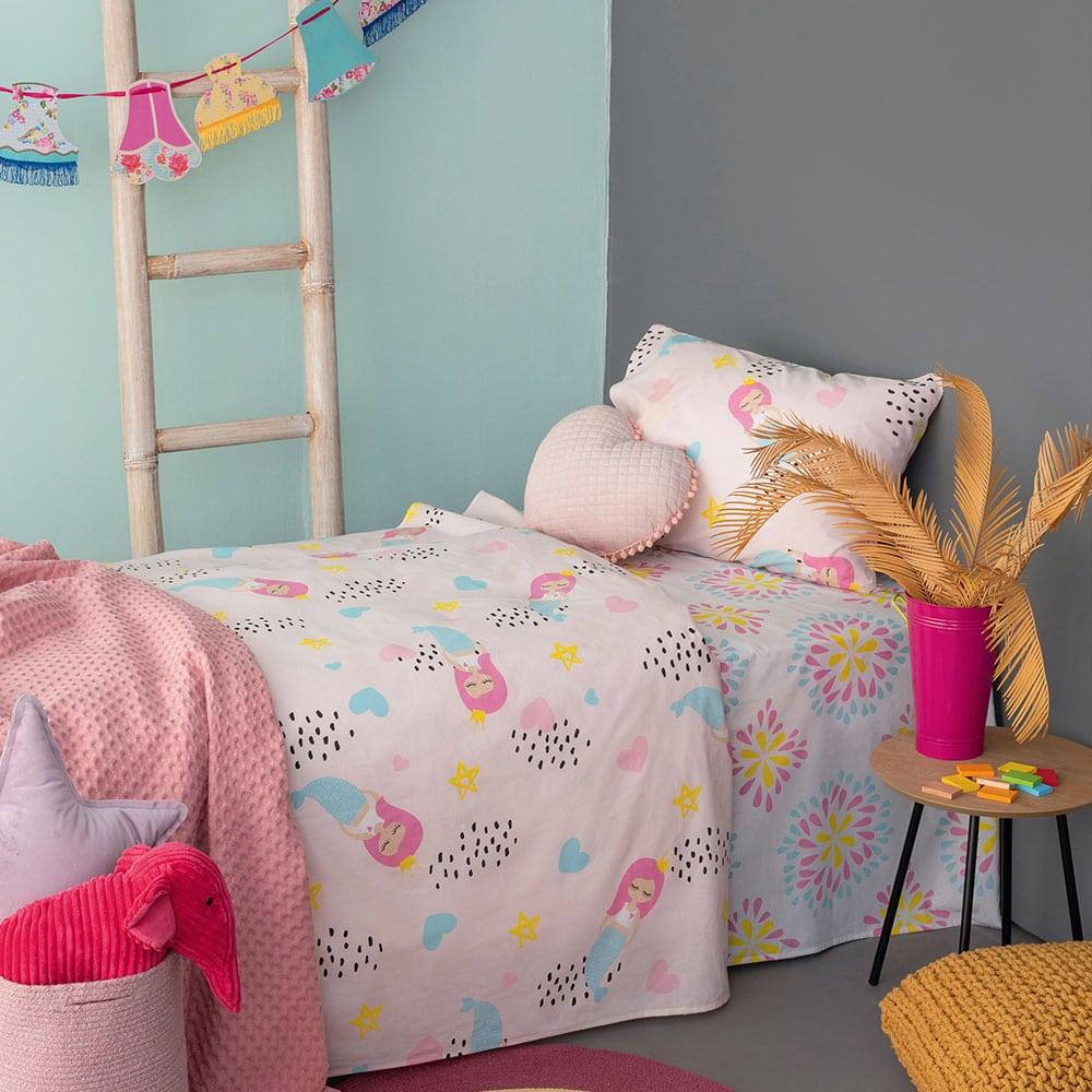 Μαξιλαροθήκες Παιδικές MK728 Σετ 2τμχ Pink Palamaiki 50X75