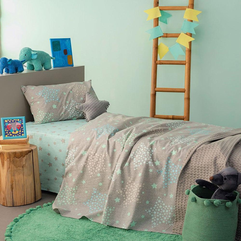 Μαξιλαροθήκες Παιδικές MK730 Σετ 2τμχ Light Blue Palamaiki 50X75