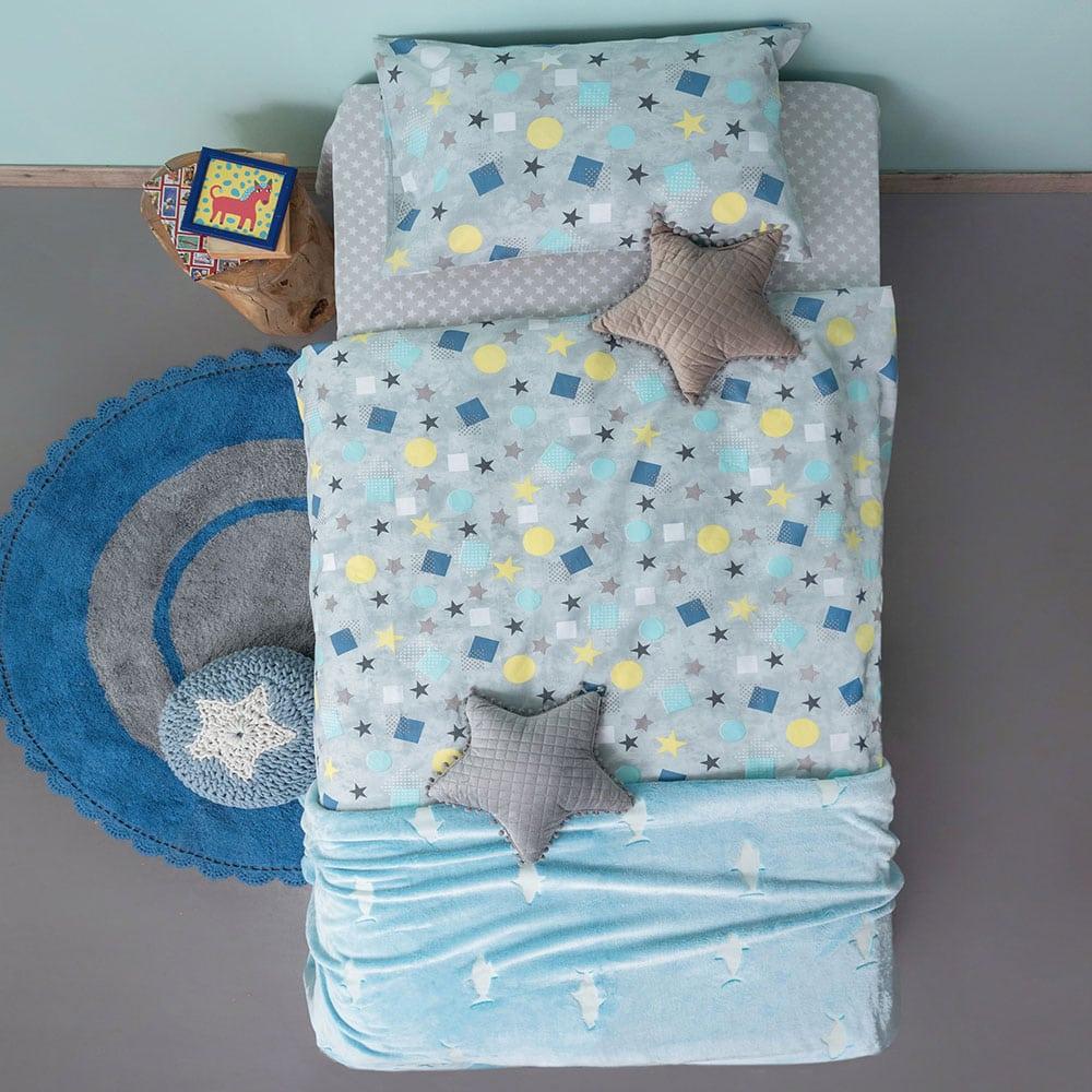 Μαξιλαροθήκες Παιδικές TC929 Σετ 2τμχ Grey Palamaiki 50X75