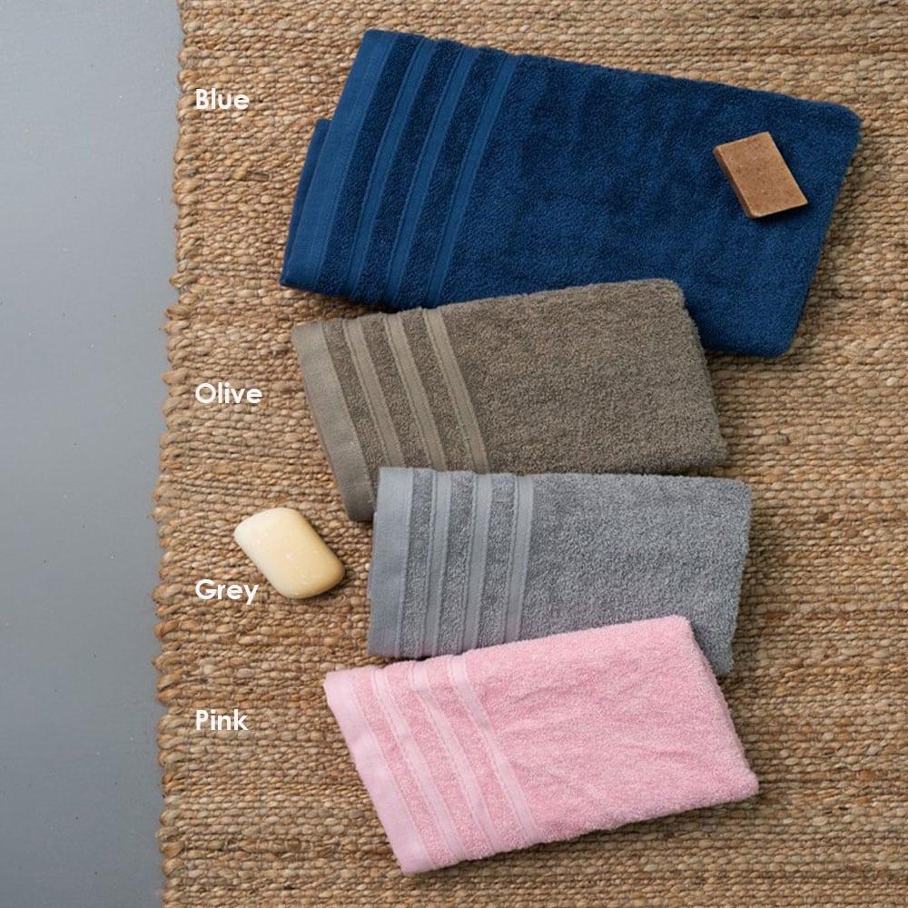 Πετσέτες Beren Σετ 3τμχ Blue Palamaiki Σετ Πετσέτες