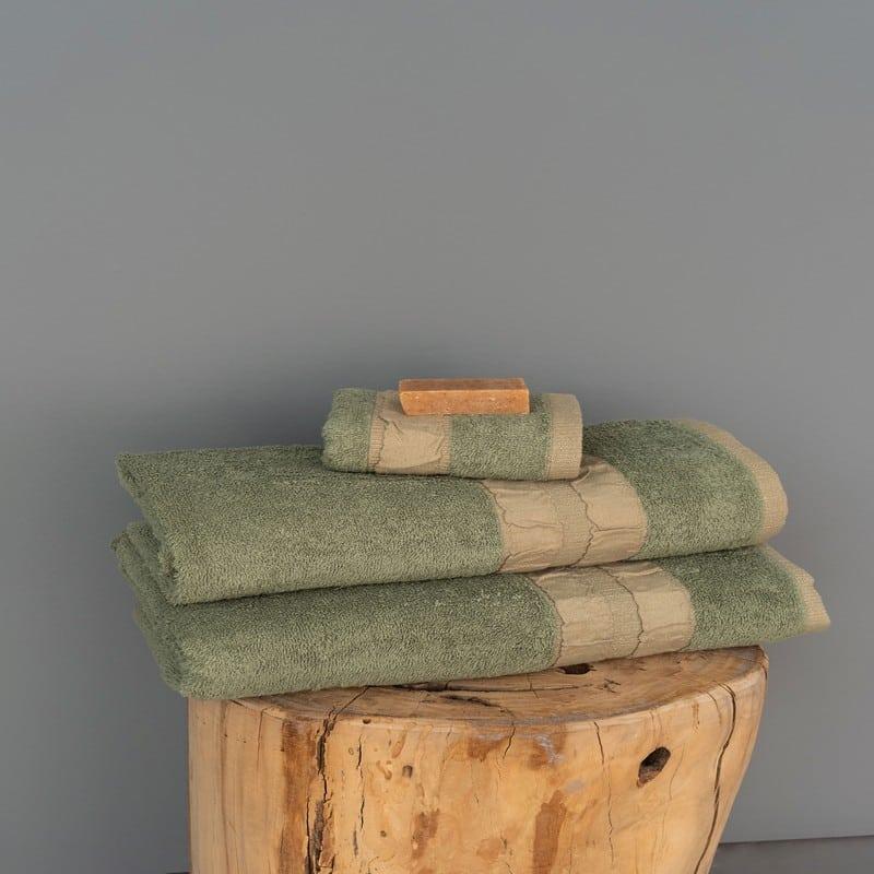 Πετσέτες Cactus Σετ 3τμχ Green Palamaiki Σετ Πετσέτες