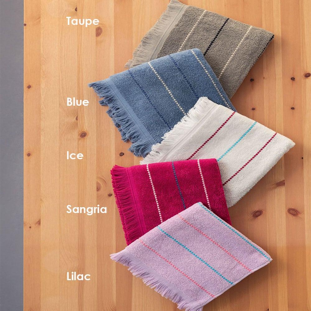 Πετσέτες Diya Σετ 3τμχ Lilac Palamaiki Σετ Πετσέτες