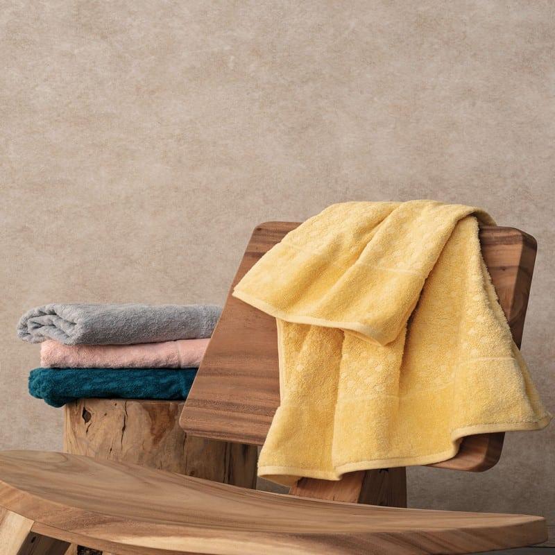 Πετσέτες Erin Σετ 3τμχ Yellow Palamaiki Σετ Πετσέτες