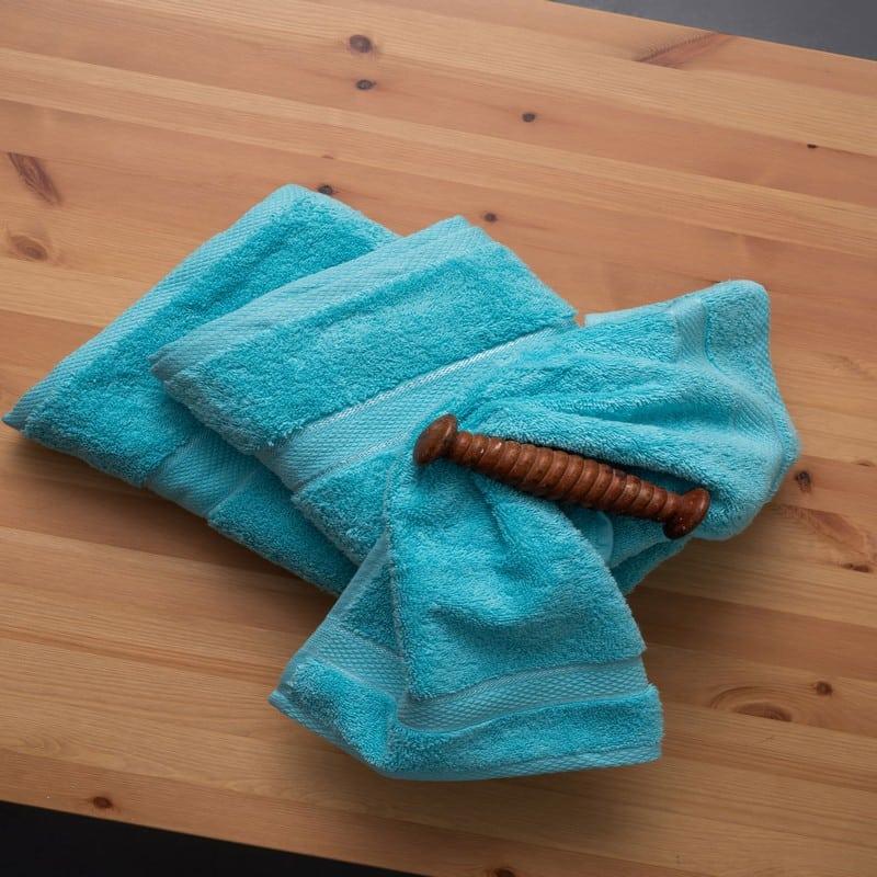 Πετσέτες Jolie Σετ 3τμχ Cyan Palamaiki Σετ Πετσέτες
