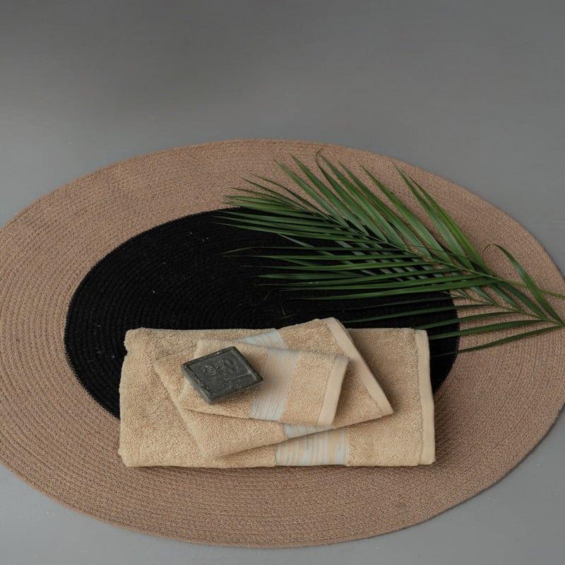 Πετσέτες Kayle Σετ 3τμχ Beige Palamaiki Σετ Πετσέτες