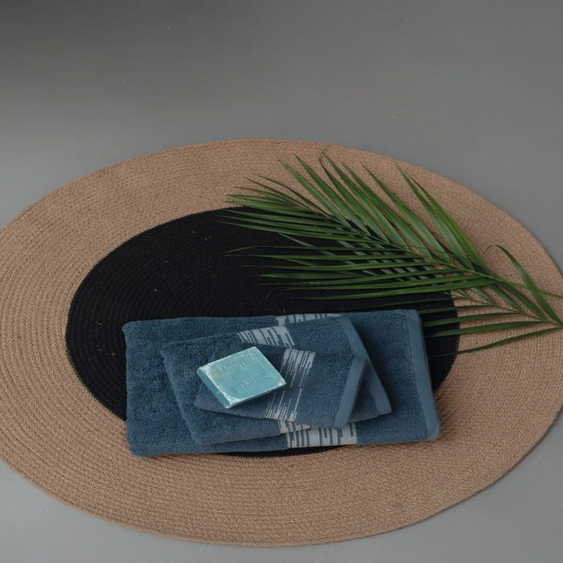 Πετσέτες Kayle Σετ 3τμχ Blue Palamaiki Σετ Πετσέτες