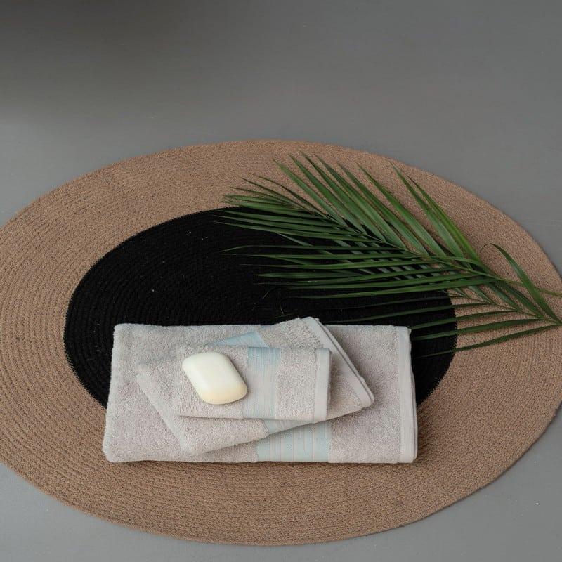 Πετσέτες Kayle Σετ 3τμχ Grey Palamaiki Σετ Πετσέτες