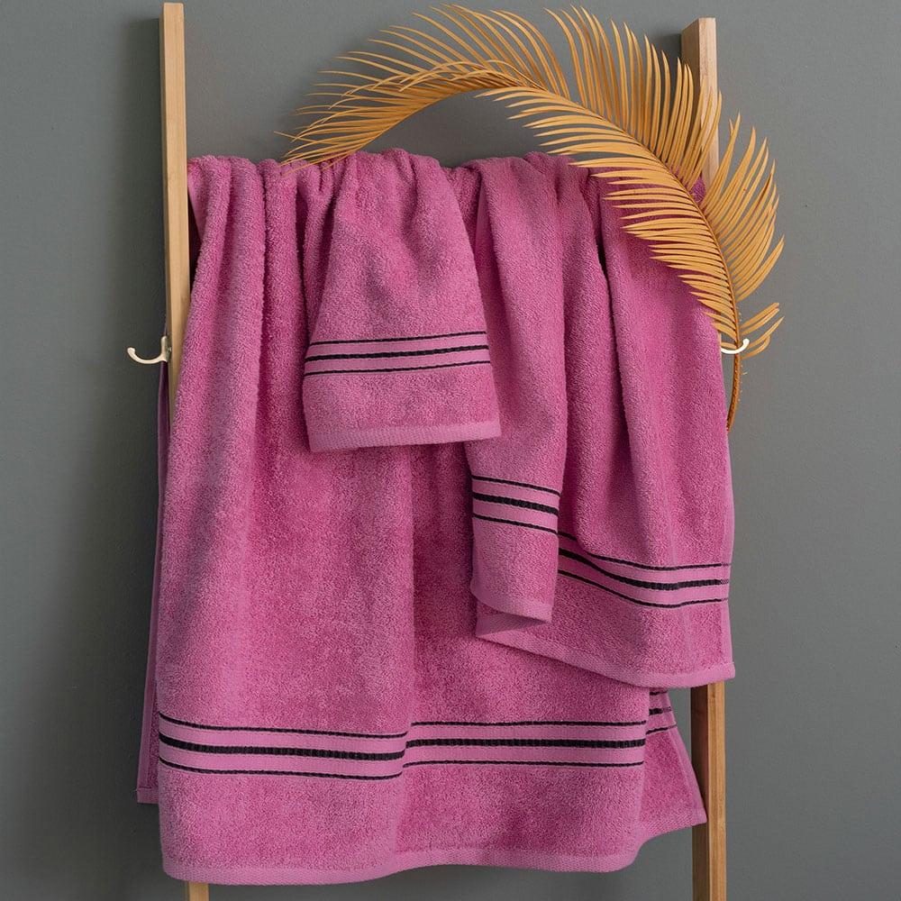 Πετσέτες Kimi Σετ 3τμχ Pink Palamaiki Σετ Πετσέτες