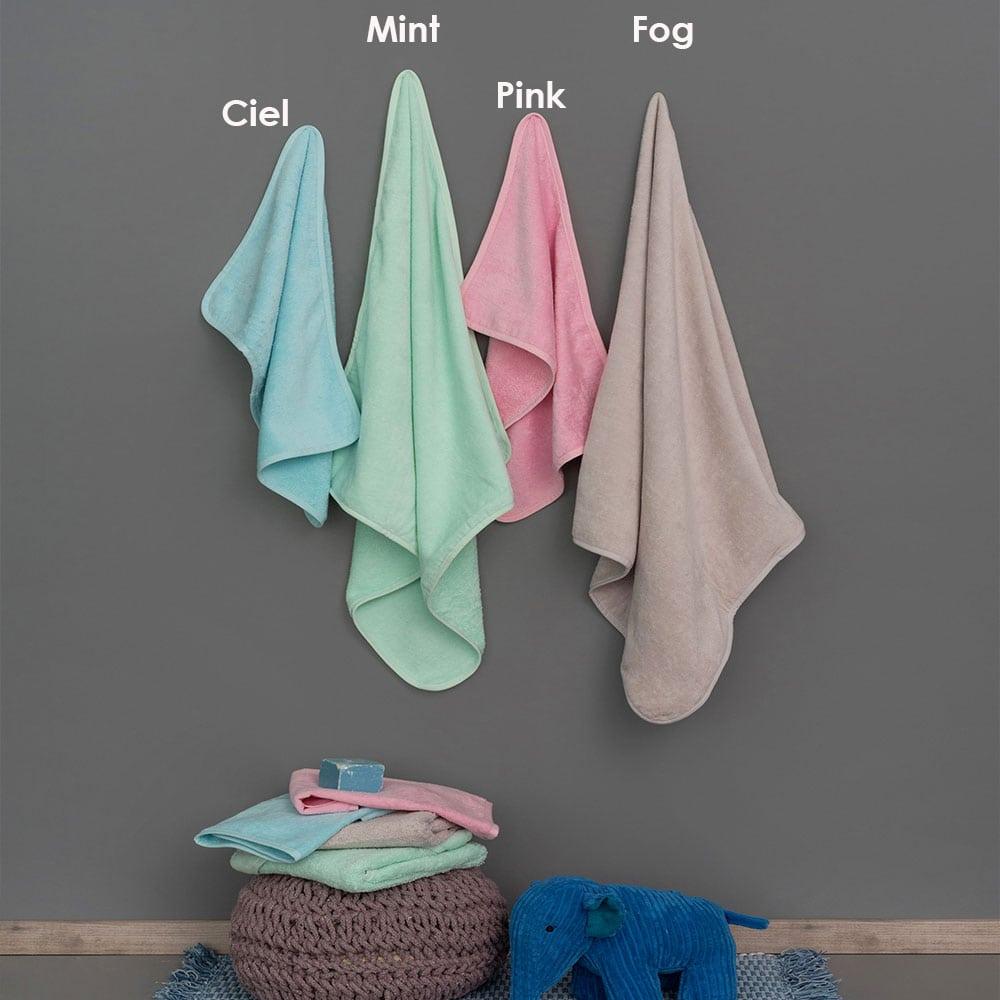 Πετσέτες Βρεφικές Robin Σετ 2τμχ Pink Palamaiki Σετ Πετσέτες