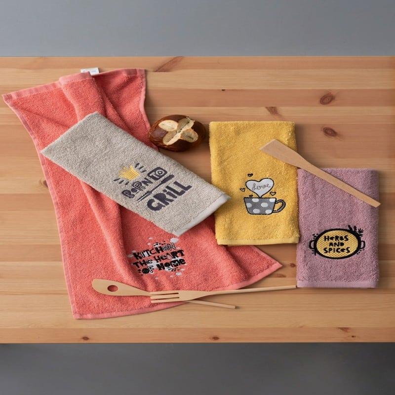 Πετσέτες Κουζίνας KT170 Σετ 4τμχ Multi Palamaiki
