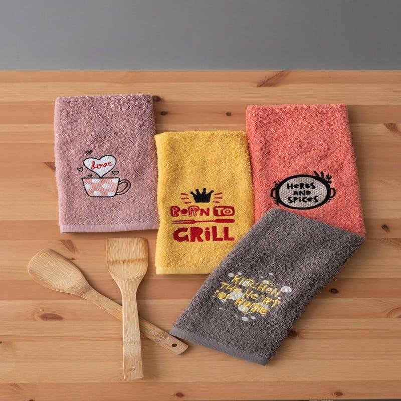 Πετσέτες Κουζίνας KT180 Σετ 4τμχ Multi Palamaiki