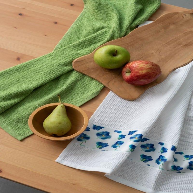 Πετσέτες Κουζίνας Σετ 2τμχ Citron White – Green Palamaiki