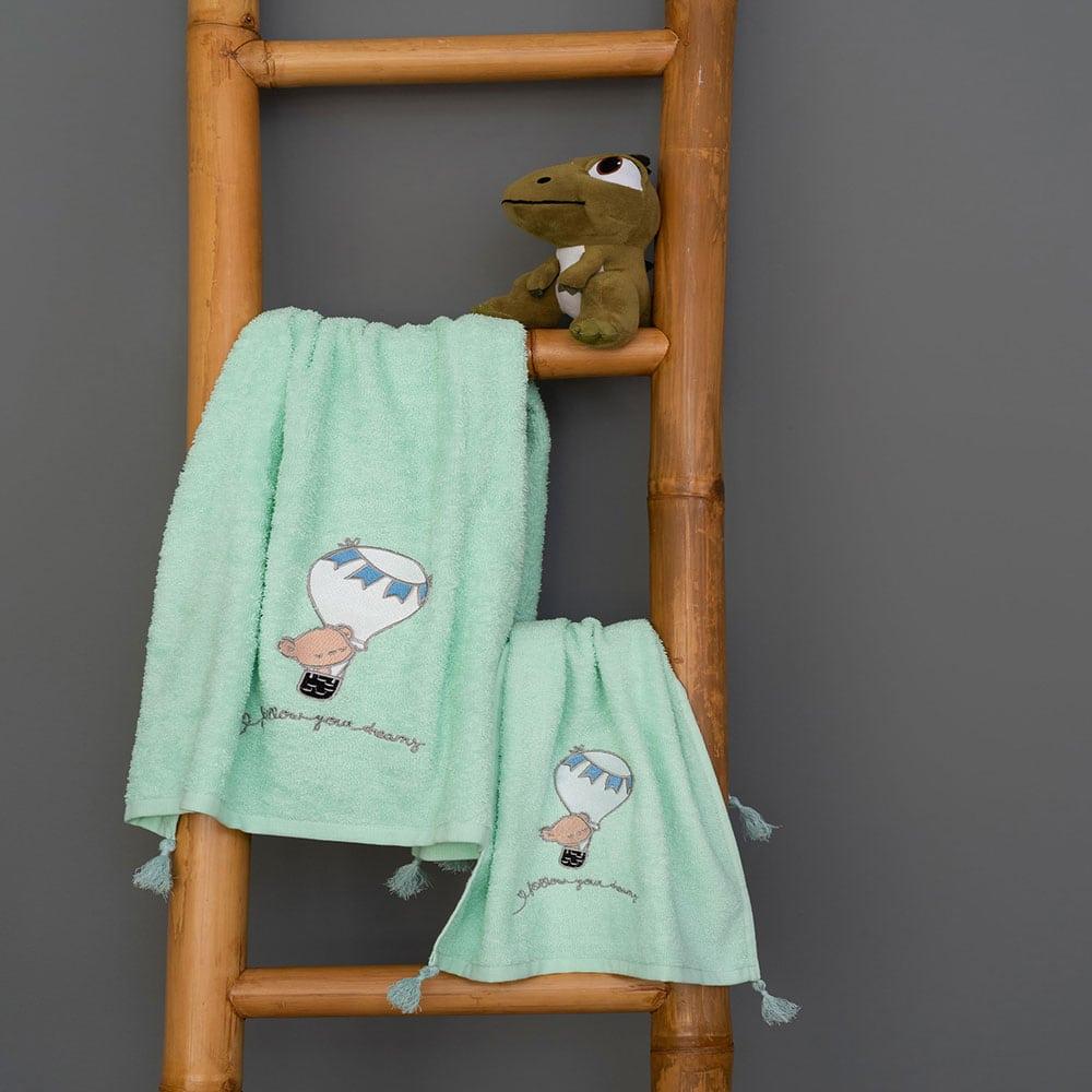 Πετσέτες Παιδικές Σετ 2τμχ Journey Boy Mint Palamaiki Σετ Πετσέτες
