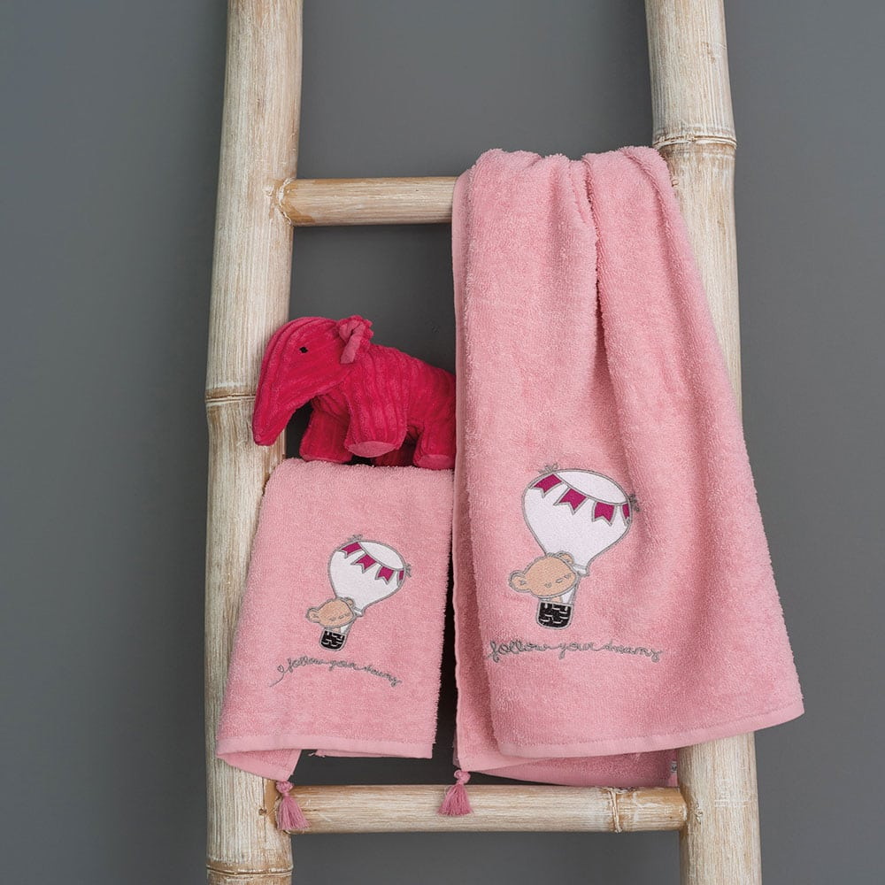 Πετσέτες Παιδικές Σετ 2τμχ Journey Girl Pink Palamaiki Σετ Πετσέτες