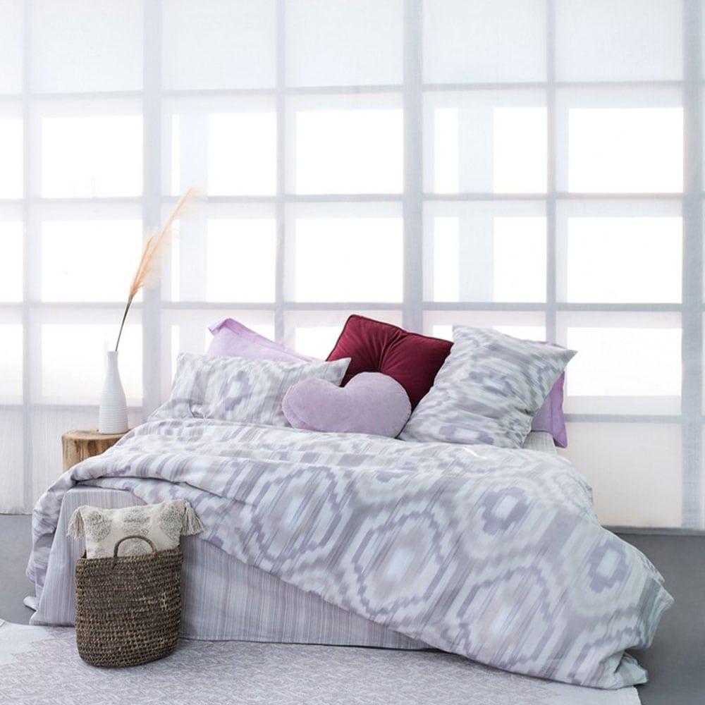 Σεντόνια FL6117 Σετ 4τμχ Fashion Life Grey-Purple Palamaiki Υπέρδιπλo