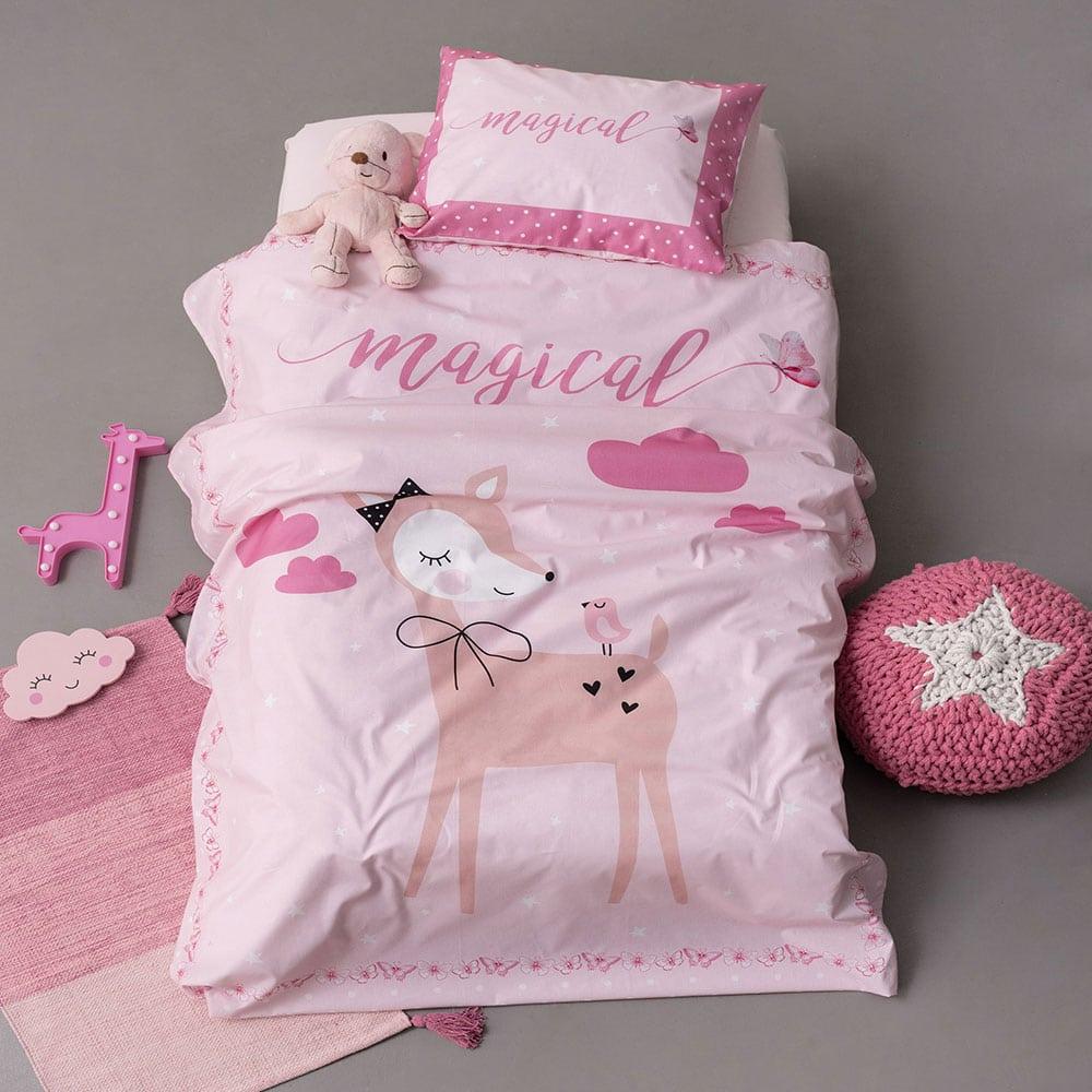 Σεντόνια Βρεφικά Σετ 3τμχ HB0577 Happy Baby Pink Palamaiki Κούνιας