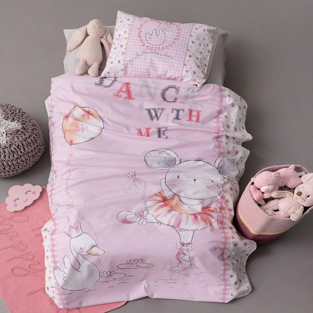 Σεντόνια Βρεφικά Σετ 3τμχ HB0580 Happy Baby Pink Palamaiki Κούνιας
