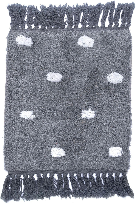 Χαλί Με Κρόσσια Dotto Grey Palamaiki 70X150