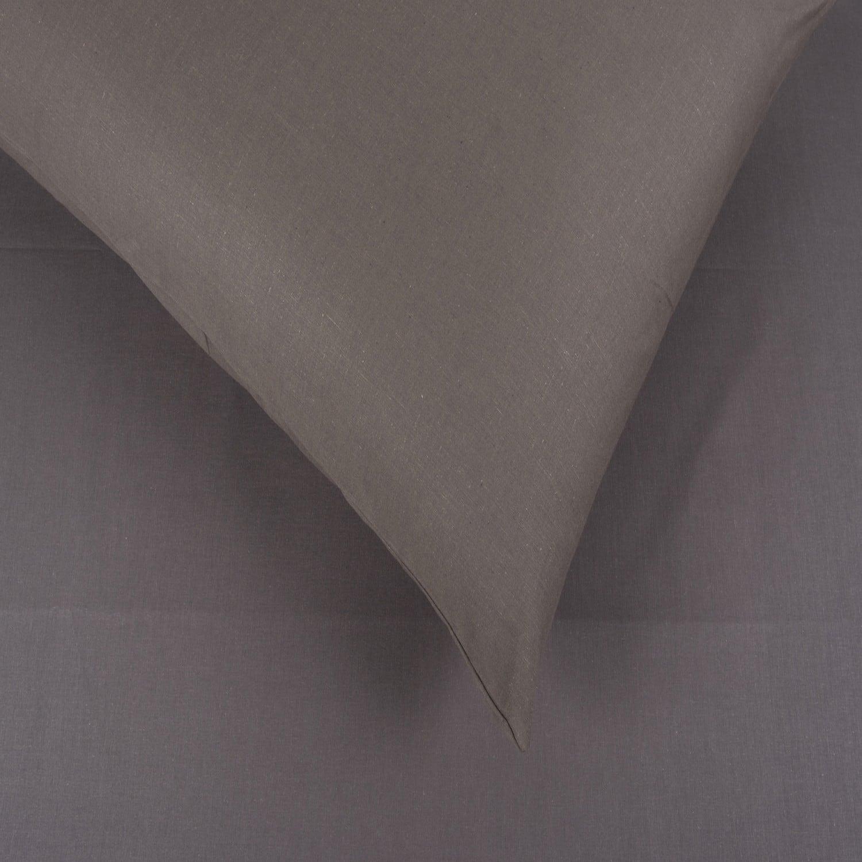 Σεντόνια Σετ 2Τμχ. Laura Μονόχρωμα Grey Astron Μονό 160x240cm