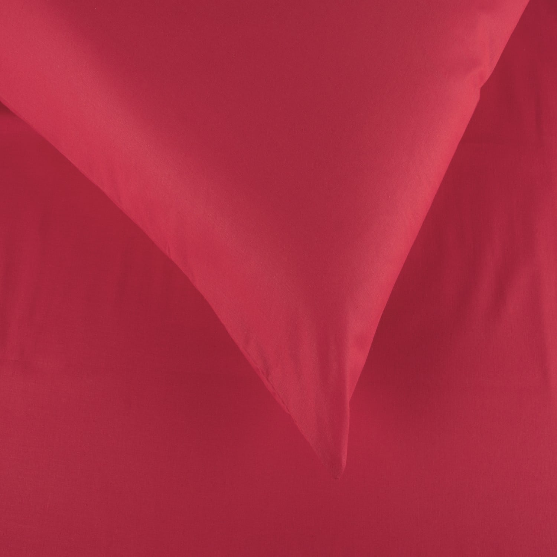 Σεντόνια Σετ 3Τμχ. Laura Μονόχρωμα Red Astron Υπέρδιπλo 220x240cm