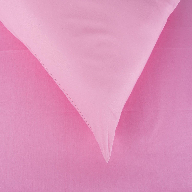 Σεντόνια Σετ 4Τμχ. Laura Μονόχρωμα Pink Astron Υπέρδιπλo 220x240cm