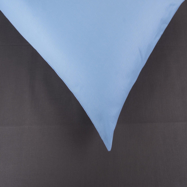 Σεντόνια Σετ 2Τμχ. Laura Δίχρωμα Grey-Ciel Astron Μονό 160x240cm
