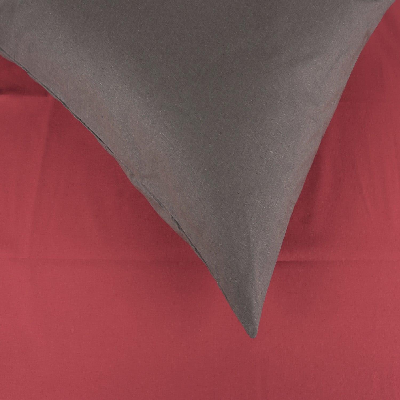 Σεντόνια Σετ 2Τμχ. Laura Δίχρωμα Red-Grey Astron Μονό 160x240cm