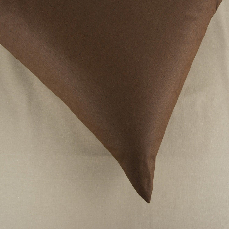 Σεντόνια Σετ 3Τμχ. Laura Δίχρωμα Beige-Brown Astron Υπέρδιπλo 220x240cm