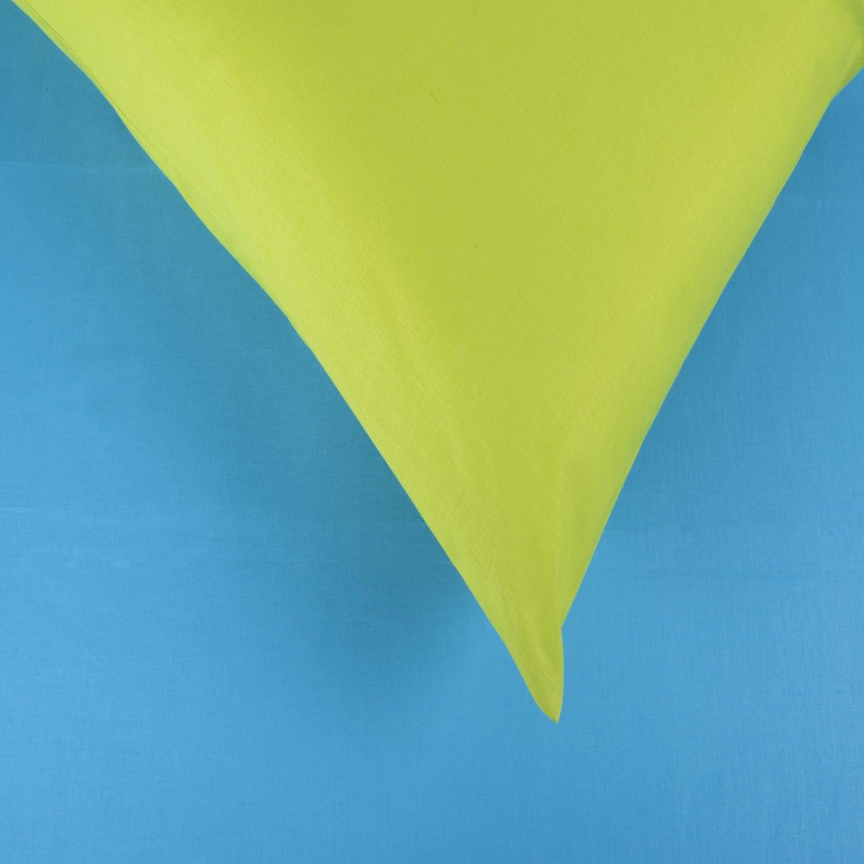 Σεντόνια Σετ 3Τμχ. Laura Δίχρωμα Turkuaz-Lime Astron Υπέρδιπλo 220x240cm