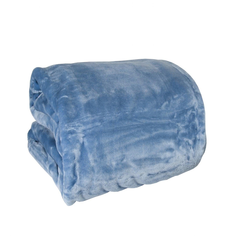 Κουβέρτα Ξενοδοχείου Βελουτέ Blue 100% Polyester Μονό 160x220cm