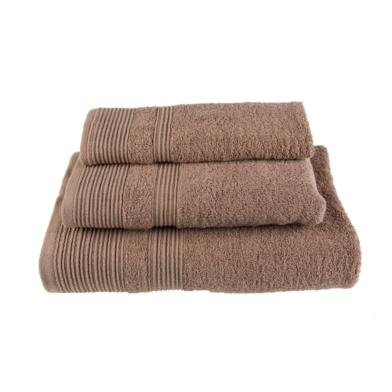 Πετσέτα Μονόχρωμη Καφέ Astron Χεριών 30x50cm