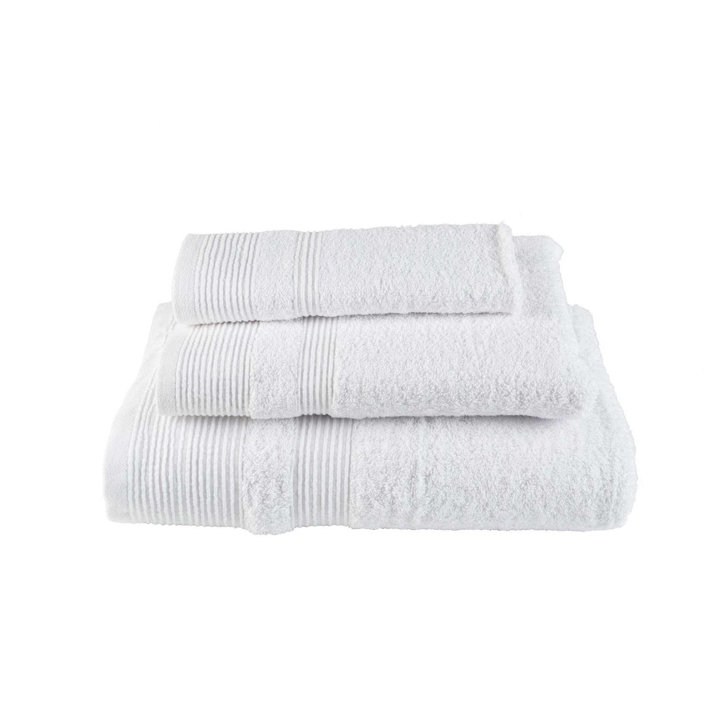Πετσέτα Μονόχρωμη Λευκή Astron Προσώπου 50x100cm