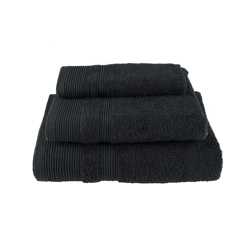 Πετσέτα Μονόχρωμη Μαύρη Astron Χεριών 30x50cm