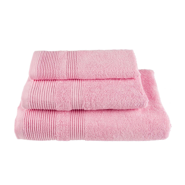 Πετσέτα Μονόχρωμη Ροζ Astron Σώματος 80x150cm