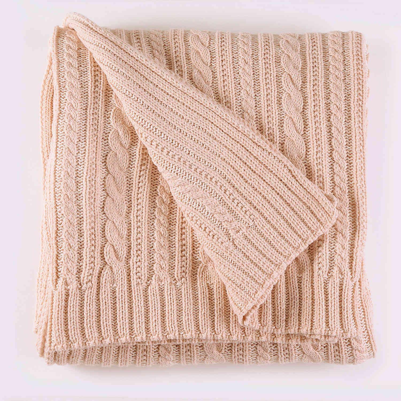 Κουβέρτα Πλεχτή Henna 03 Somon Ρυθμός Υπέρδιπλo 220x240cm