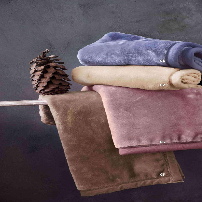 Κουβέρτα Βελουτέ Velour 05 Brown Ρυθμός Υπέρδιπλo 220x240cm