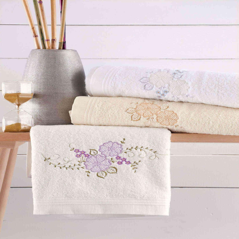 Πετσέτες Σετ Stella Λευκό 3τμχ. Ρυθμός Σετ Πετσέτες