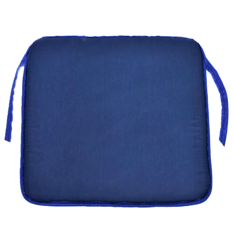 Μαξιλάρι Καθίσματος Lap Μονόχρωμο 38X38X2cm Μπλε Σκούρο 40Χ40