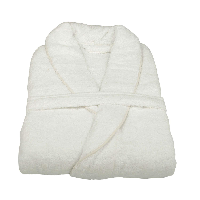 Μπουρνούζι Ξενοδοχείου King Με Ρέλι White 100% Cotton 500gsm Medium M