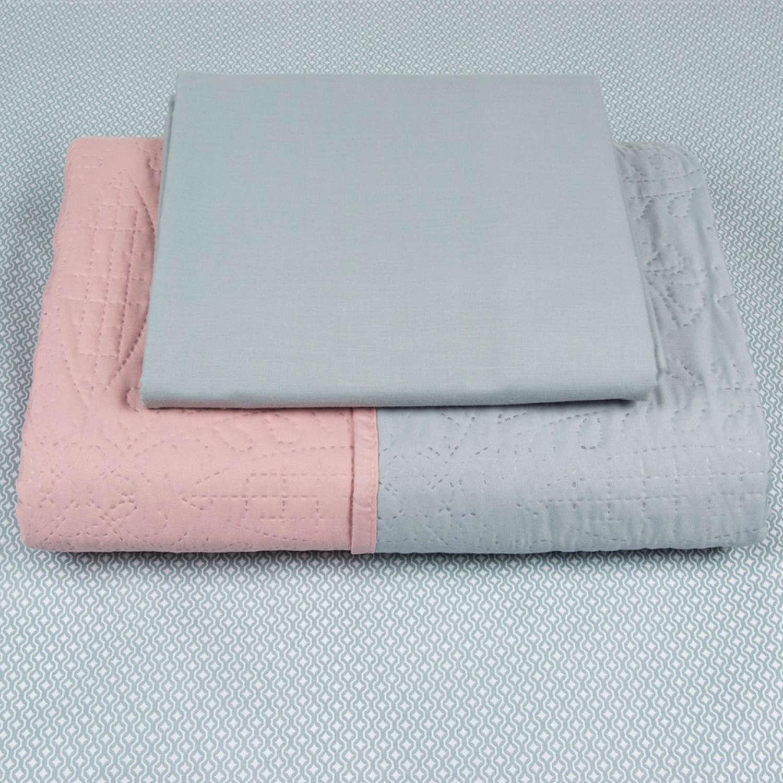 Σεντόνια Σετ 3Τμχ. Με Κουβερλί Σχ11 Mint-Pink Astron Μονό 165x260cm