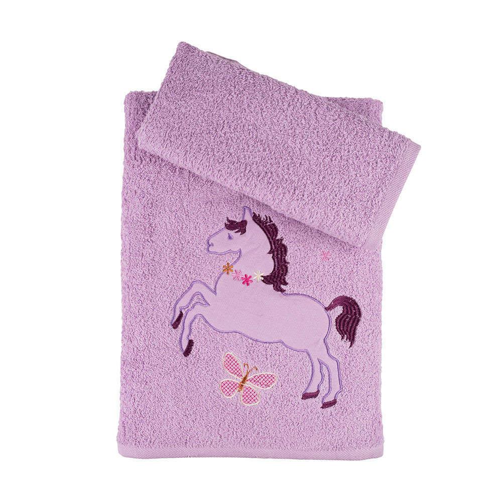 Πετσέτες Παιδικές Σετ 2Τμχ. Σε Κουτί Lila Astron Σετ Πετσέτες