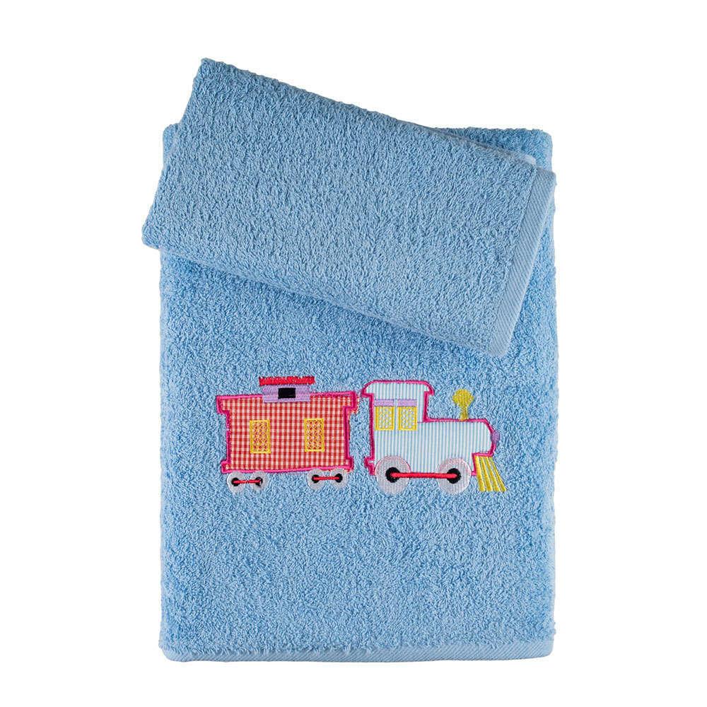 Πετσέτες Παιδικές Σετ 2Τμχ. Σε Κουτί Blue Astron Σετ Πετσέτες