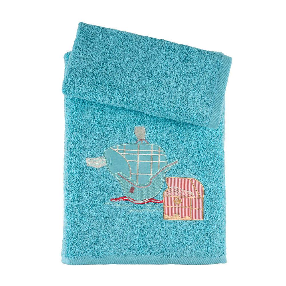 Πετσέτες Παιδικές Σετ 2Τμχ. Σε Κουτί Turquoise Astron Σετ Πετσέτες